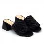 Tamanco Sapato Da Corte Salto Bloco Transversal Trança