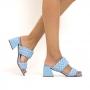 Tamanco Sapato Da Corte Tiras Comfy Salto Bloco