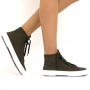 Tênis Sapato Da Corte Botinha Lona