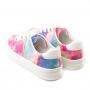 Tênis Sapato Da Corte Cadarço Tie Dye