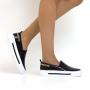 Tênis Sapato Da Corte Slip On Corrente