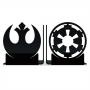 Aparador de Livros Rebeldes vs Império - Star Wars