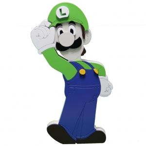 Boneco em Madeira Luigi - Super Mario
