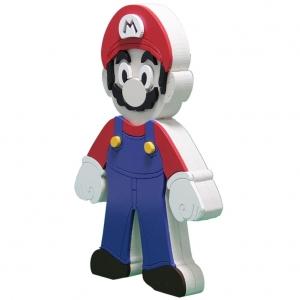 Boneco em Madeira Mario Bros - Super Mario