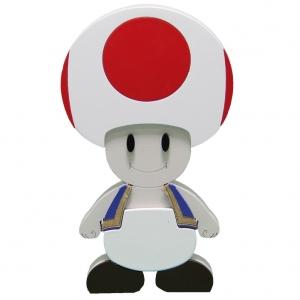 Boneco em Madeira Toad - Super Mario