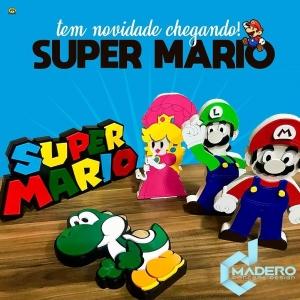 Boneco em Madeira Yoshi - Super Mario