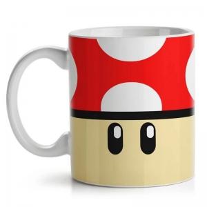Caneca Cogumelo Vermelho Grow UP - Super Mario