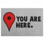 Capacho em Vinil You Are Here - Google Maps