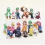 Kit 18 Chaveiros Super Mario Bros
