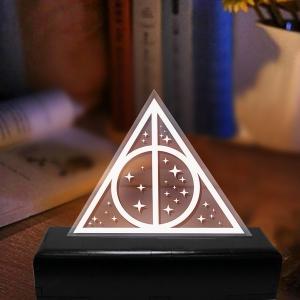 Luminária em Acrílico Relíquias da Morte - Harry Potter