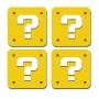 Porta-Copos Conjunto 4 Peças Bloco de Interrogação - Super Mario Bros