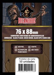 Sleeve Customizado Zombicide Black Plague / Green Horde / Black Ops / Dark Side  (76 x 88 mm) Bucaneiros