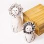 Escultura de Cerâmica Leão Decoração Pequeno