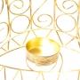 Porta Vela Mão Hamsá Dourada