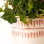 Vaso de Cerâmica Delicado Rosa e Dourado