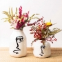 Vaso de Cerâmica Half Face Redondo