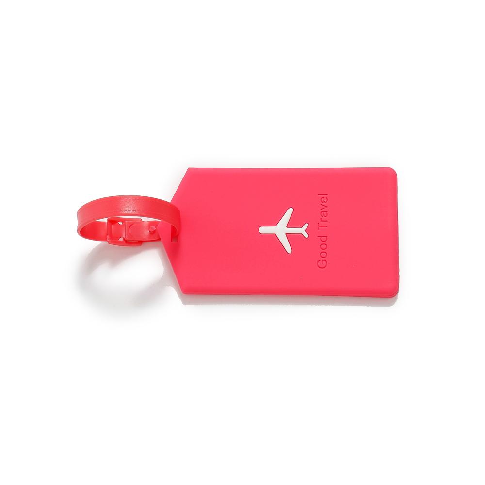 Identificador De Bagagem Avião - Fúcsia