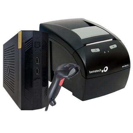 Kit Automação Impressora Não Fiscal Bematech Mp 4200 Standart + Computador Bematech Zion Rc-8400 + Leitor Elgin Flash