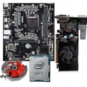 Kit Upgrade Processador I3 10100F + Placa Mae Pcware H510-G DDR4 Lga 1200 + Placa De Video Galax GT 210 1GB + Cooler