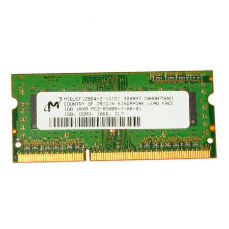 Memória 1gb Ddr3 1066mhz Micron Para Notebook