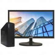 "Mini Pc Concórdia Completo Com Monitor 19,5""  Processador Intel Core I3 8100 Memória 4gb Ddr4 Hd 1tb Wifi"