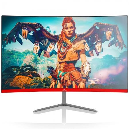 "Monitor Concórdia Gamer Curvo C240 23.8"" Led Full Hd Hdmi Vga - Red"