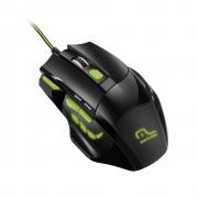 Mouse Gamer Multilaser Mo208 2400 Dpi 7 Botões Preto Com Detalhes Verdes