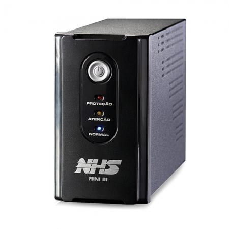 Nobreak Nhs Mini Iii Extendido 1200va 600w 6t C/ 2 Bat. Seladas 5ah 24v/s.120v