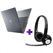 "Notebook Positivo C4128ei Celeron Dual-core N3350 4gb Ddr4 Ssd 128gb Tela 14"" Hd Led Windows 10 Pro + Fone Logitech H390"