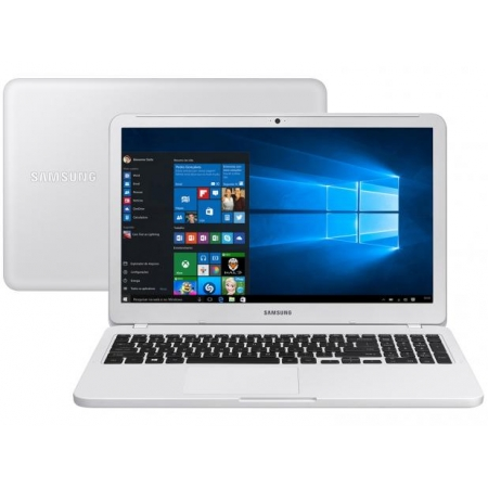 Notebook Samsung Essentials E30 Np350 Core I3 7020U Memoria 8Gb Ssd 240Gb Tela 15.6' Fhd Cor Branco Win 10 Home