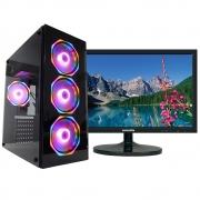 Pc Gamer One Concórdia Completo Com Monitor De 18,5'' Core I5 Memória 8gb Hd 500gb Placa De Vídeo 4gb Com Wifi