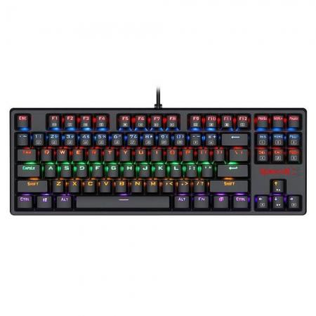 Teclado mecânico gamer Redragon Daksa Preto Switch Azul ABNT2 K576R-1