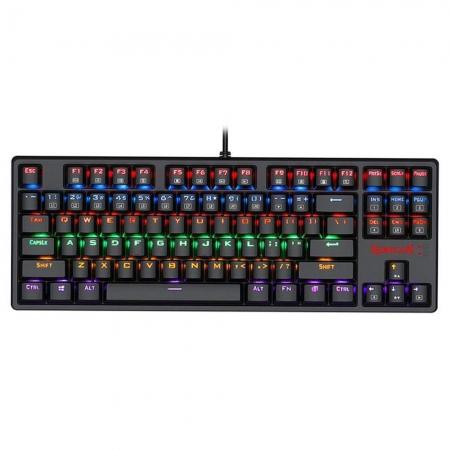 Teclado mecânico gamer Redragon Daksa Preto Switch Marrom ABNT2 K576R-1