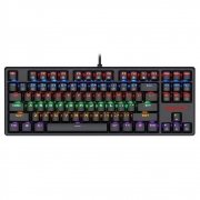 Teclado mecânico gamer Redragon Daksa Preto Switch Vermelho ABNT2 K576R-1