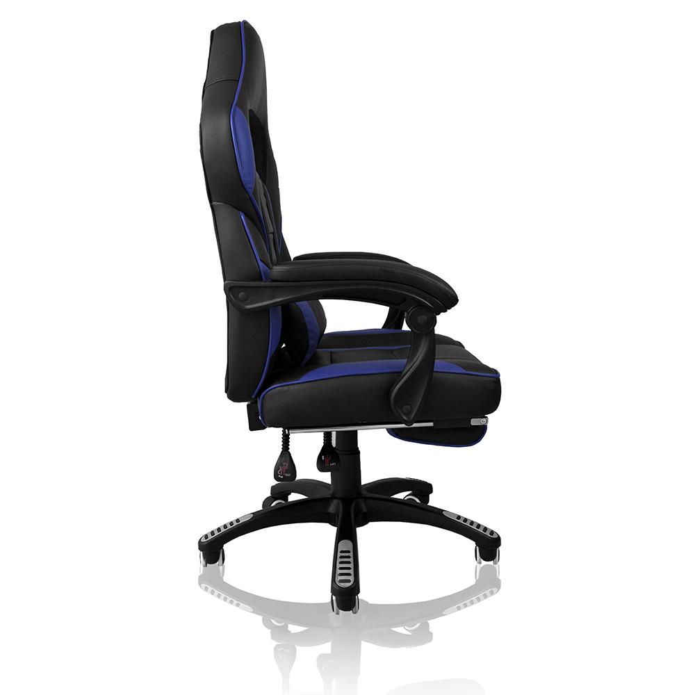 Cadeira Gamer Concórdia  Ac-8069 Reclinável Com Detalhes Em Azul