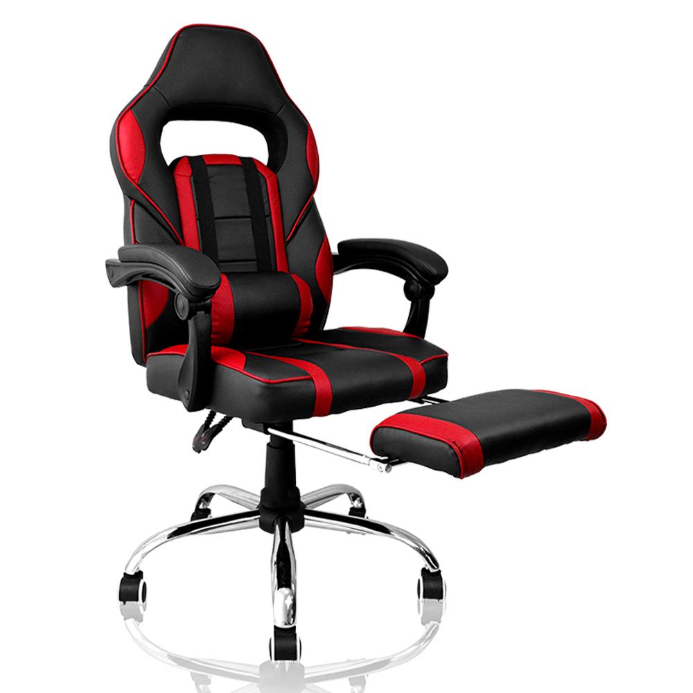 Cadeira Gamer Concórdia  Ac-8069 Reclinável Com Detalhes Em Vermelho