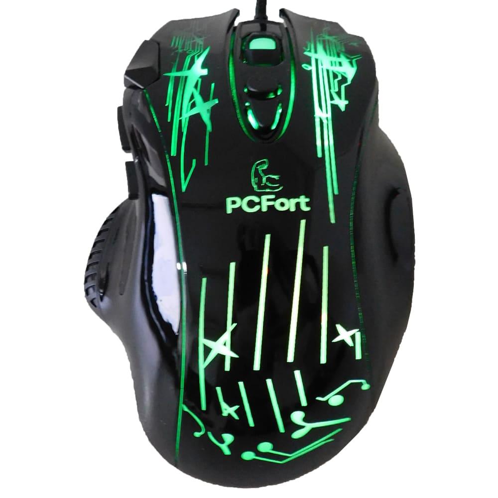 Filial - Mouse Gamer Pcfort Usb Am-6112 Preto Com Rgb