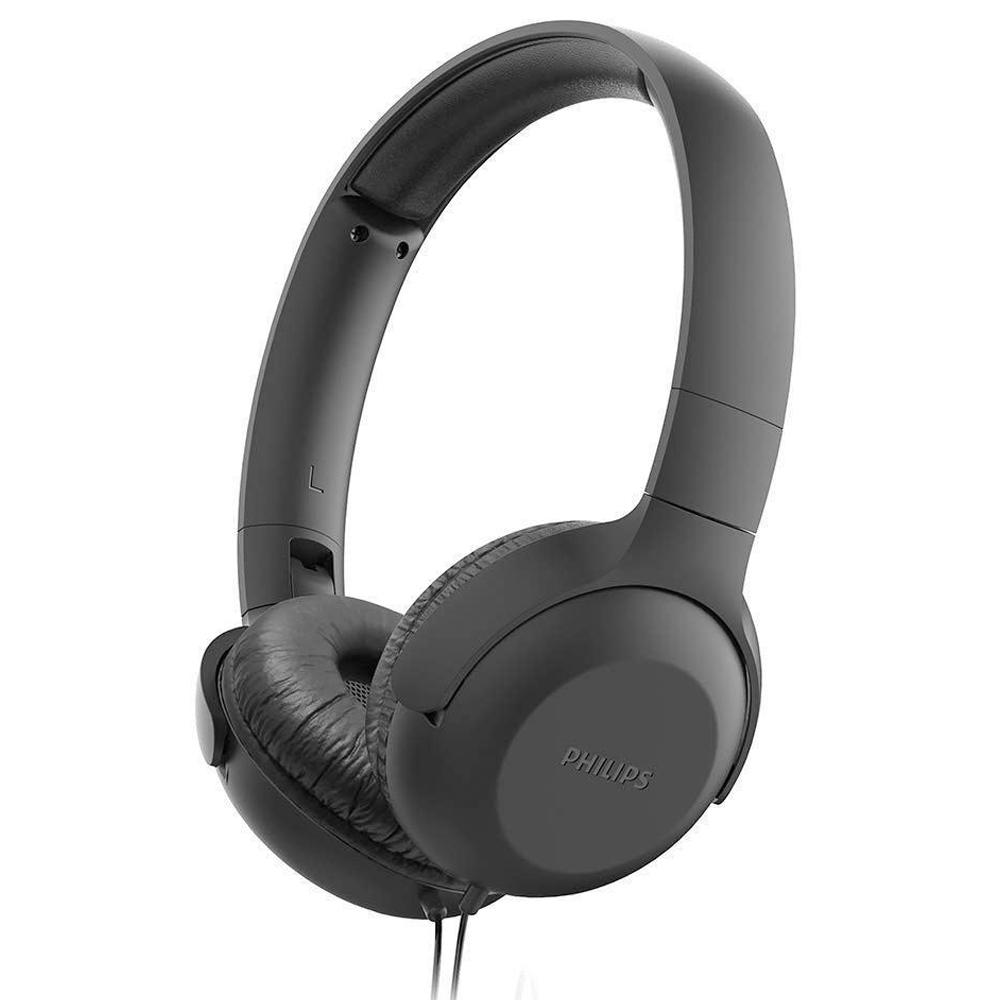 Fone De Ouvido Headphone Philips Com Microfone Preto Tauh201bk/00