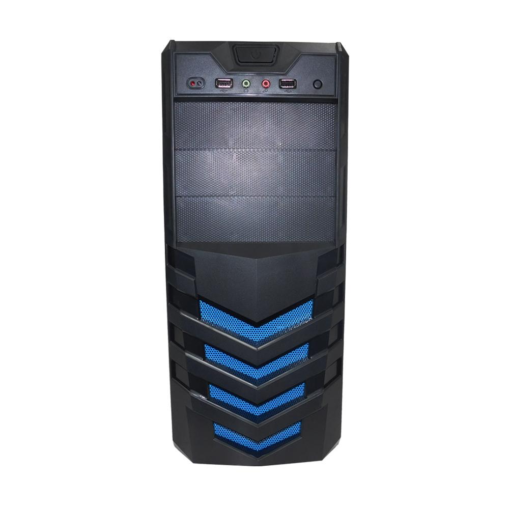 Gabinete Office Transformer PcFort  Detalhe Azul