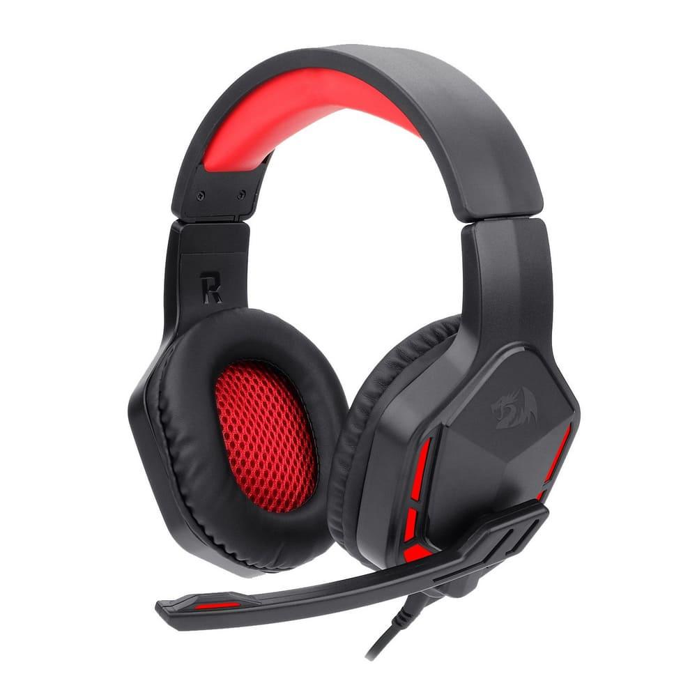 Headset Gamer Redragon Themis 2 Preto E Vermelho P2 Com Microfone Sem Led - H220n
