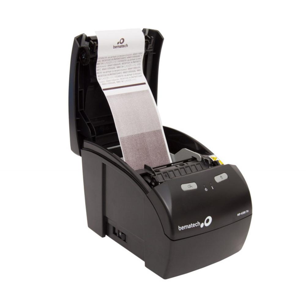 Kit Impressora Não Fiscal Térmica Bematech Mp 4200 Standart Bivolt + 60 Unidades Bobina Térmica