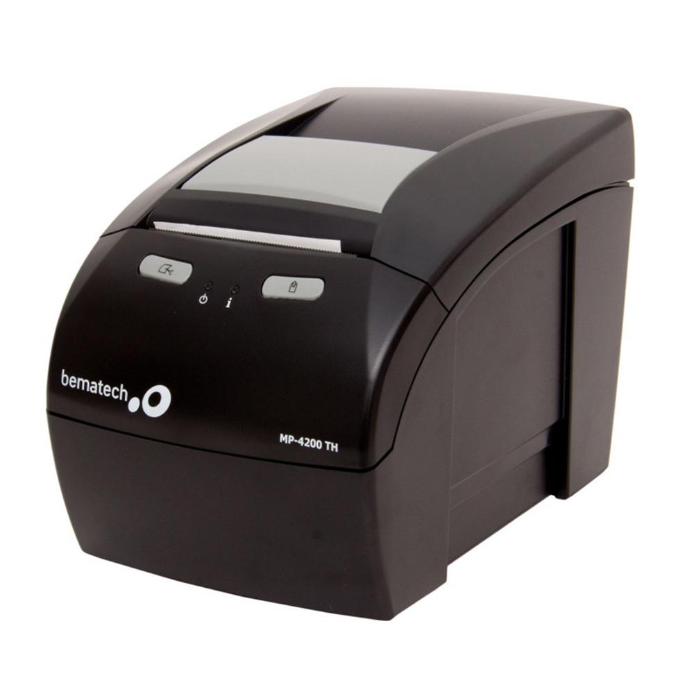 Kit Impressora Não Fiscal Térmica Bematech Mp 4200 Standart Bivolt + Leitor Código De Barras Bematech I-3200