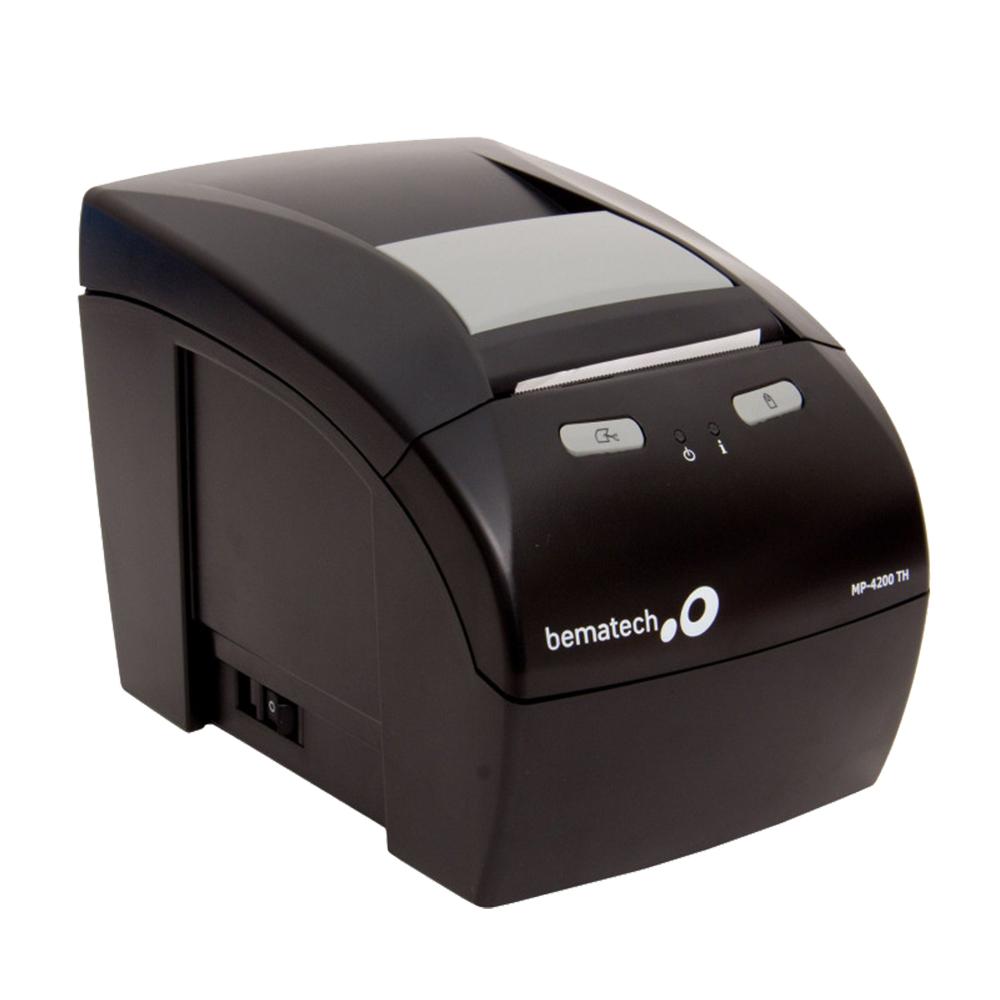 Kit Impressora Não Fiscal Térmica Bematech Mp 4200 Standart Bivolt + Leitor Código De Barras Elgin Flash