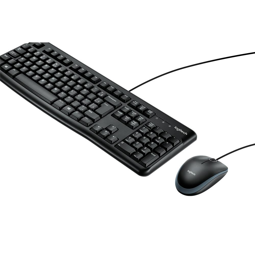 Kit Teclado E Mouse Com Fio Logitech Mk120