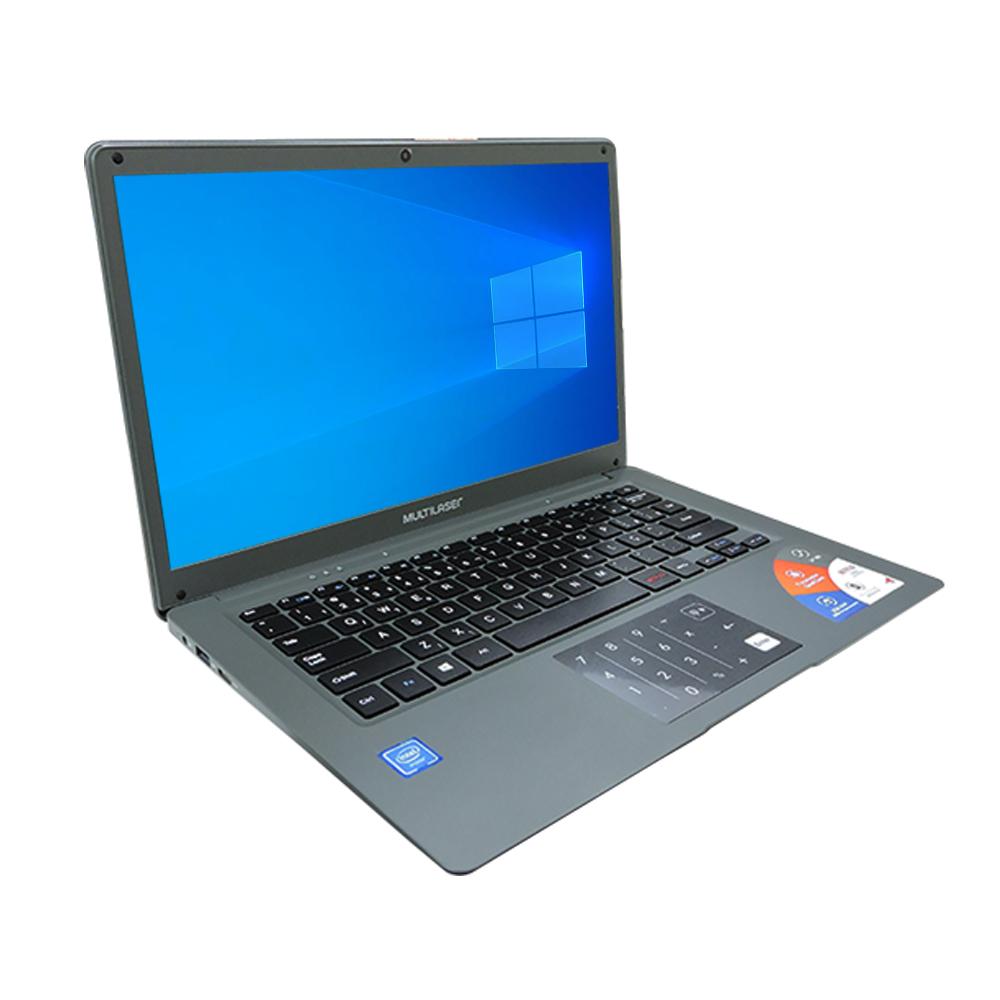 """Notebook Multilaser Pc131 Legacy Atom Z8350 Ram 2gb Hd 32gb Tela 14"""" Windows 10 Home Cinza"""