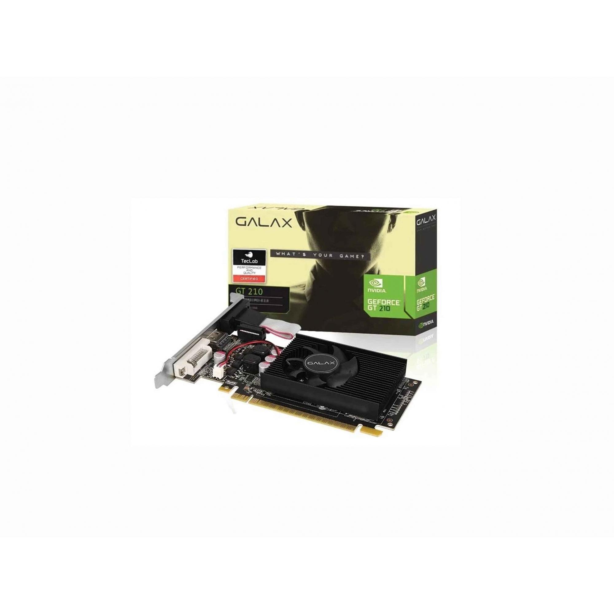 Placa De Video Galax GT 210 1GB DDR3 64bits