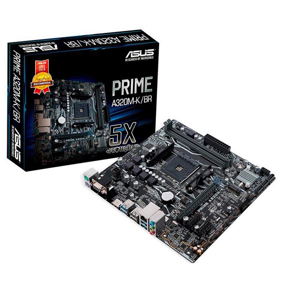 Placa Mãe ASUS Prime A320M-K/BR AMD AM4 DDR4 mATX