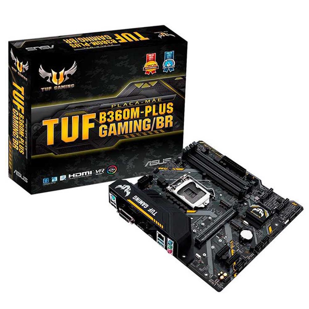 Placa Mãe Asus TUF B360M-PLUS GAMING INTEL LGA1151 DDR4 mATX