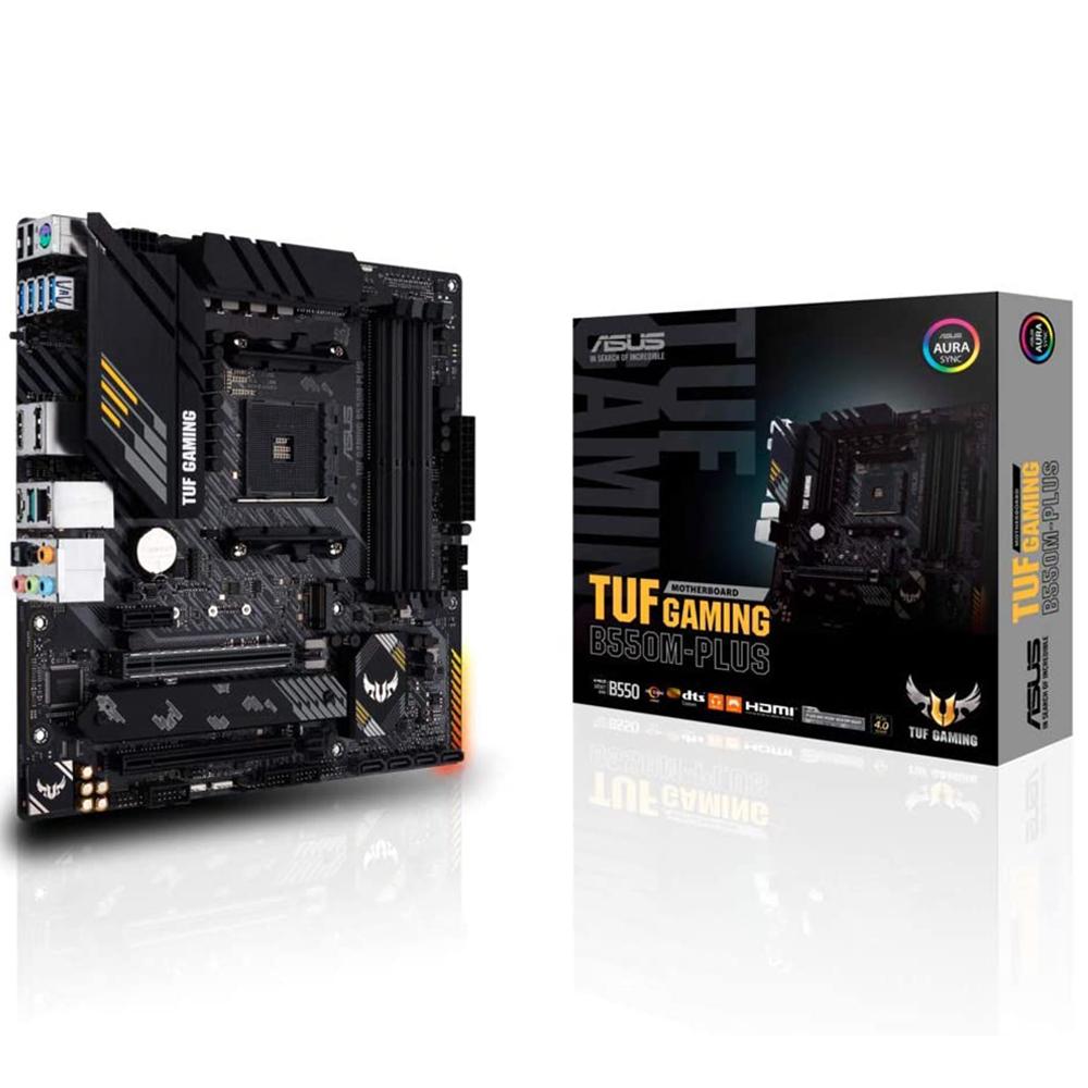 Placa Mãe Asus TUF B550M-PLUS GAMING AMD AM4 DDR4 mATX