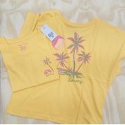 Blusa Billabong Sunny Palms Amarelo